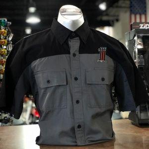 Harley-Davidson Shirts - Harley Davidson Men's Black and Gray Garage Shirt